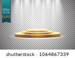 golden podium with a...   Shutterstock .eps vector #1064867339