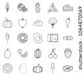 feed icons set. outline set of... | Shutterstock . vector #1064870069
