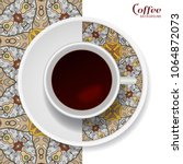cup of coffee with colorful... | Shutterstock .eps vector #1064872073