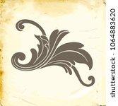 retro baroque decorations... | Shutterstock .eps vector #1064883620