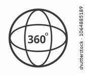360 degrees angle icon sign... | Shutterstock .eps vector #1064885189