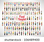 a large group of people gather... | Shutterstock .eps vector #106489400