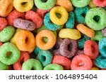 cereal background. colorful... | Shutterstock . vector #1064895404