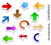 3d arrows  vector eps10... | Shutterstock .eps vector #106489664