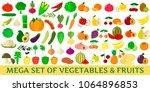 a set of fresh fruits... | Shutterstock .eps vector #1064896853
