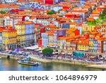 porto  portugal old town... | Shutterstock . vector #1064896979