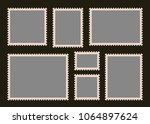 set of blank postage stamps.... | Shutterstock .eps vector #1064897624