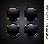 vector black technology buttons ...   Shutterstock .eps vector #106489838