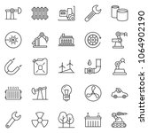 thin line icon set   factory... | Shutterstock .eps vector #1064902190