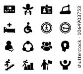 solid vector icon set   credit... | Shutterstock .eps vector #1064903753
