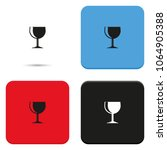 wine glass flat vector icon.