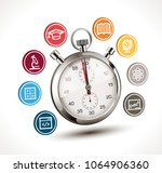 time to learn concept  ... | Shutterstock .eps vector #1064906360