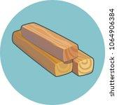 three wooden planks vector icon   Shutterstock .eps vector #1064906384
