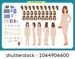 girl in evening dress character ...   Shutterstock .eps vector #1064906600