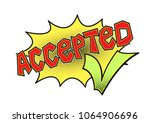 accepted word bubble with green ... | Shutterstock .eps vector #1064906696