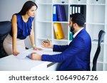business people conflict... | Shutterstock . vector #1064906726