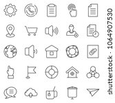 thin line icon set   hand... | Shutterstock .eps vector #1064907530