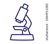 microscope vector icon.   | Shutterstock .eps vector #1064911283