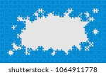 blue background puzzle.... | Shutterstock .eps vector #1064911778