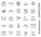 thin line icon set   the god... | Shutterstock .eps vector #1064911964