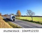 truck transportation on the...   Shutterstock . vector #1064912153