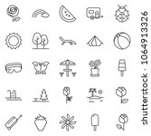 thin line icon set   protective ... | Shutterstock .eps vector #1064913326