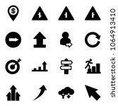 solid vector icon set   dollar... | Shutterstock .eps vector #1064913410
