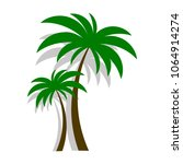 palm tree vector | Shutterstock .eps vector #1064914274