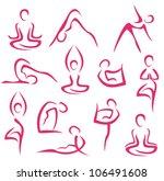 yoga  pilates big set of vector ... | Shutterstock .eps vector #106491608