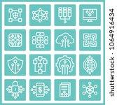 block chain technology concept  ... | Shutterstock .eps vector #1064916434