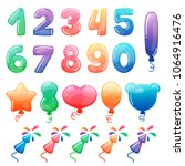 set of color cartoon numbers ...   Shutterstock .eps vector #1064916476