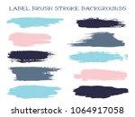 messy label brush stroke... | Shutterstock .eps vector #1064917058