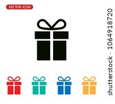 gift icon vector  present sign | Shutterstock .eps vector #1064918720