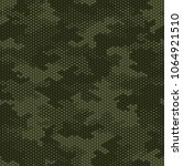 camouflage pattern background... | Shutterstock .eps vector #1064921510