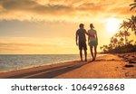 love  romantic getaway  people... | Shutterstock . vector #1064926868