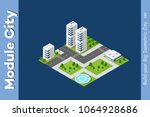 isometric illustration... | Shutterstock .eps vector #1064928686