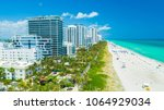 aerial view of south beach ... | Shutterstock . vector #1064929034