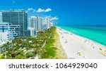 aerial view of south beach ... | Shutterstock . vector #1064929040