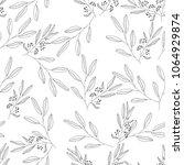floral seamless monochrome... | Shutterstock .eps vector #1064929874