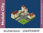 isometric illustration... | Shutterstock .eps vector #1064930849