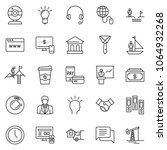 thin line icon set  ... | Shutterstock .eps vector #1064932268