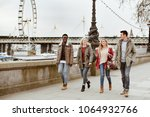 group of young best friends... | Shutterstock . vector #1064932766