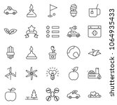 thin line icon set   saint... | Shutterstock .eps vector #1064935433