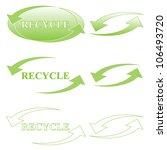 recycle symbol set | Shutterstock .eps vector #106493720