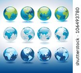 set of vector globe icons... | Shutterstock .eps vector #106493780