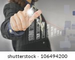 businesswoman hand touch... | Shutterstock . vector #106494200