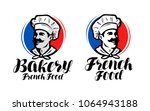 chef  cook logo. french food ... | Shutterstock .eps vector #1064943188