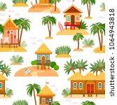 seamless pattern with beach... | Shutterstock .eps vector #1064943818