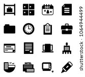 solid vector icon set   baggage ... | Shutterstock .eps vector #1064944499