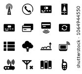 solid vector icon set   antenna ... | Shutterstock .eps vector #1064944550